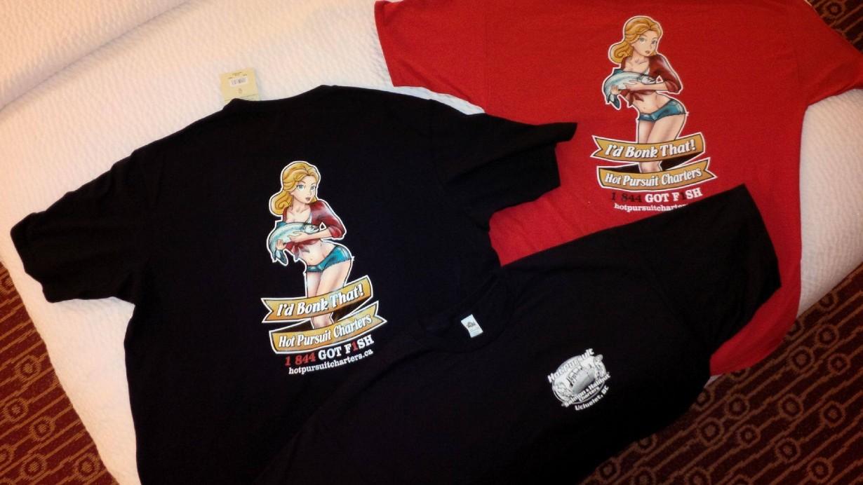 Bonker Hot Pursuit charters t-shirt