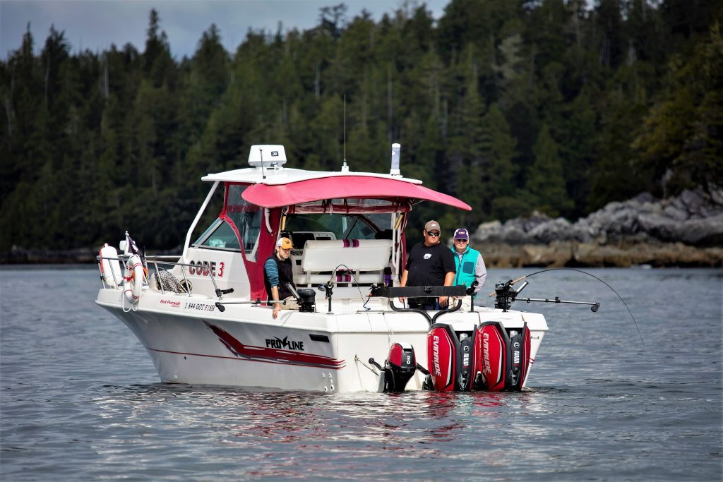 BC Salmon Fishing Guides, Hot Pursuit Charter